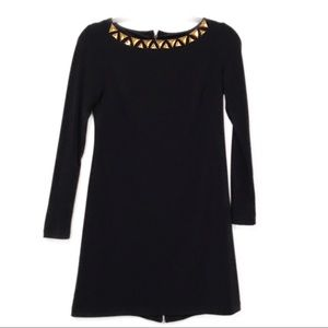 Vince Camuto Navy dress with gold zipper detail